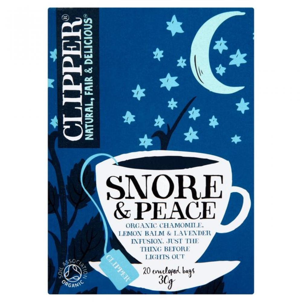 Clipper Snore And Peace Chamomile Lemon Balm And Llavender Organic Infusion 20bags