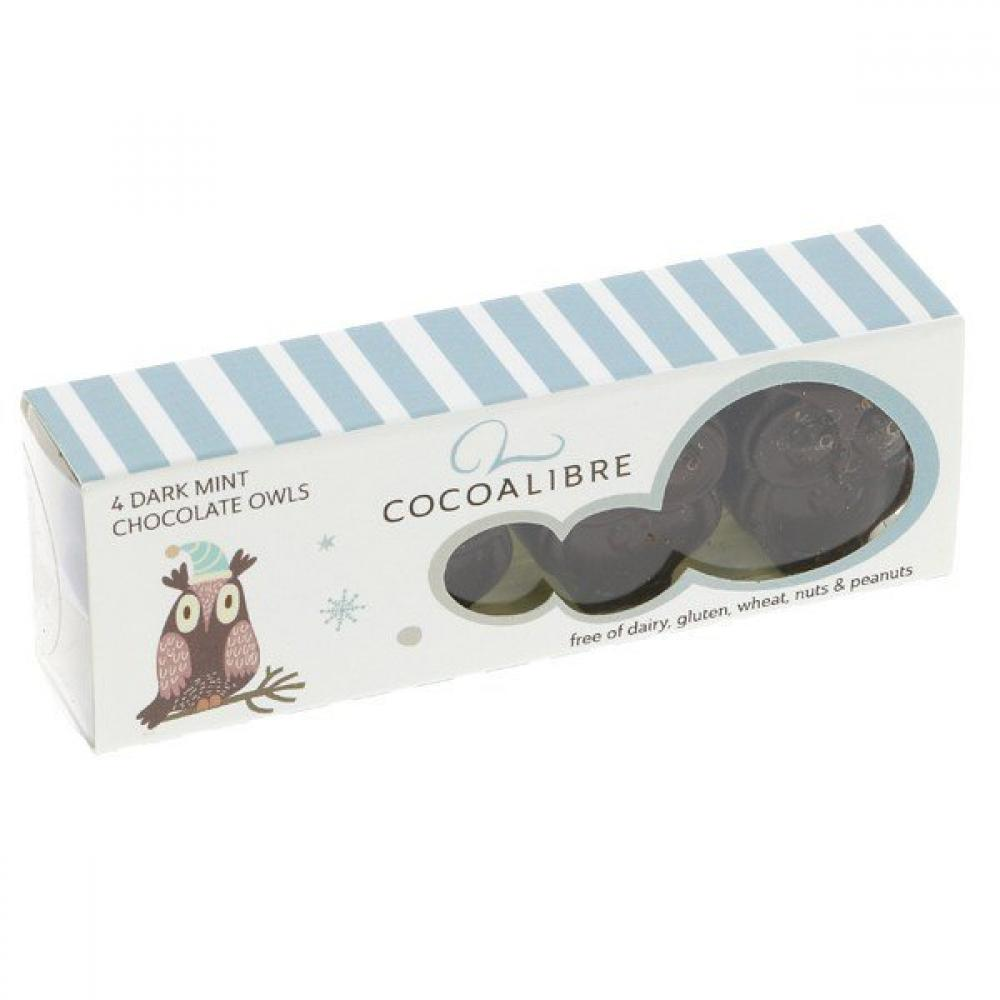 Cocoa Libre Dark Mint Chocolate Owls 40g