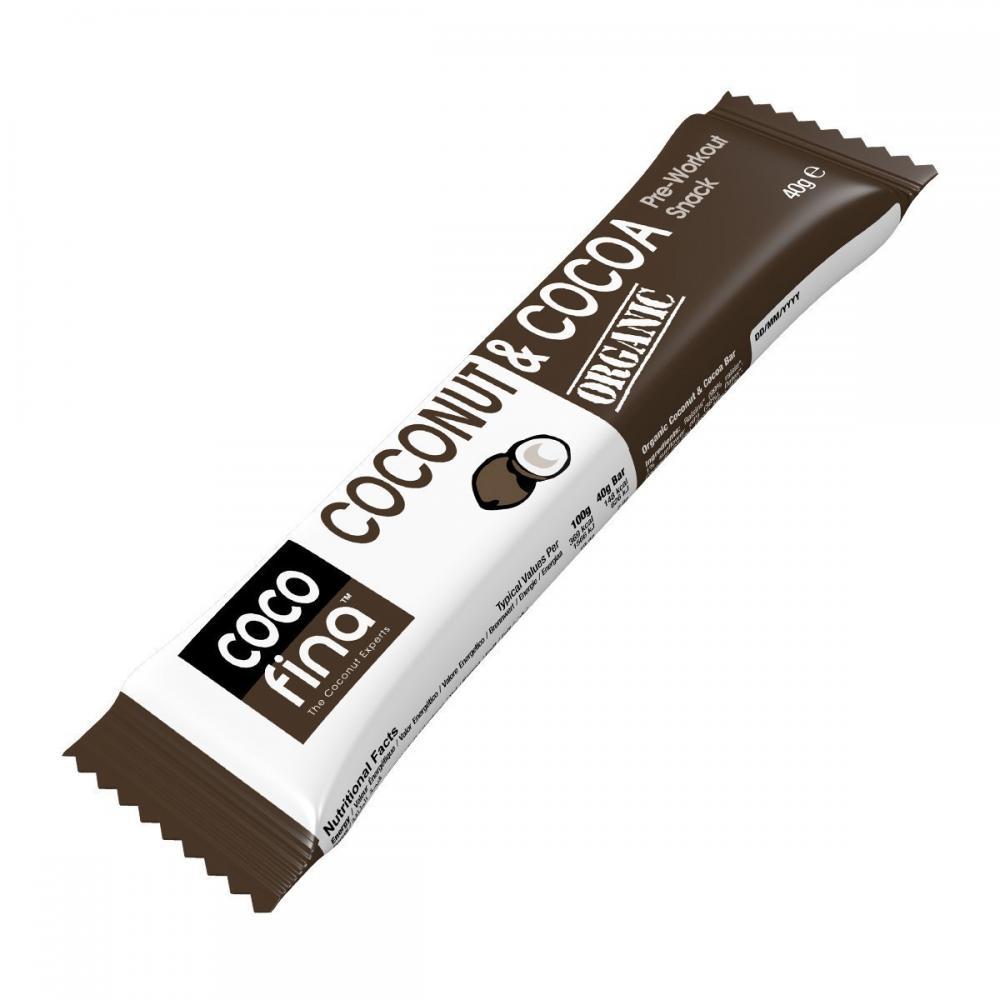Cocofina Organic Cocoa andCoconut Bar 40 g