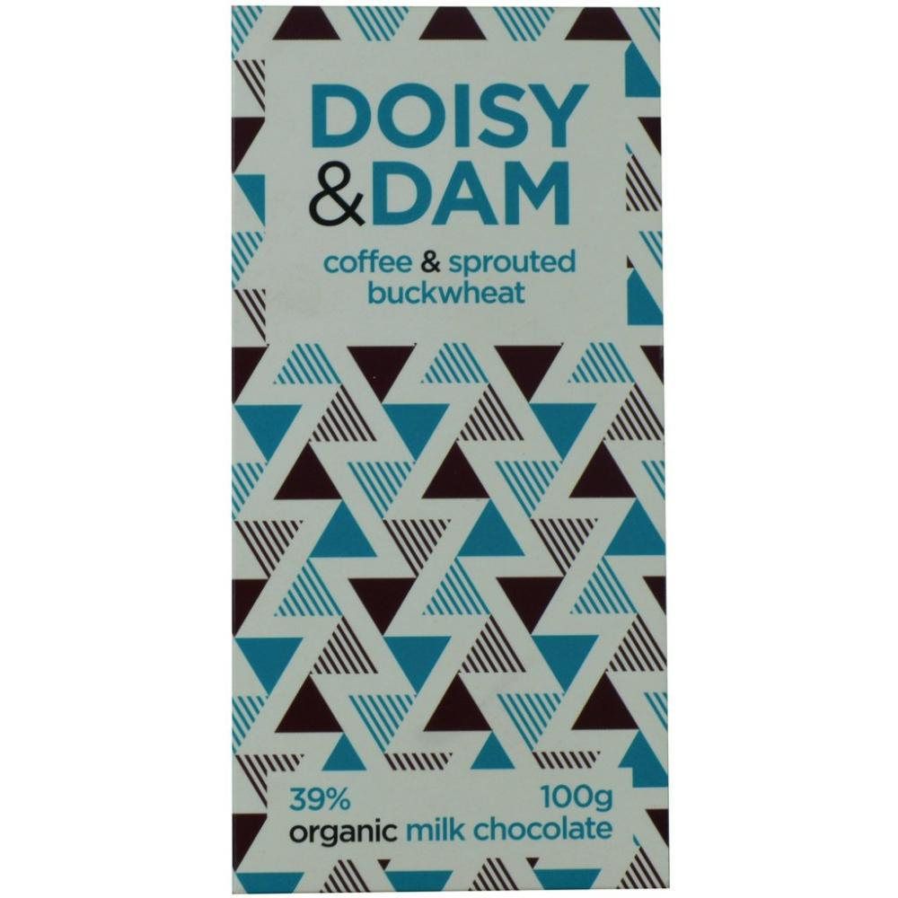 Doisy and Dam Coffee and Sprouted Buckwheat Organic Milk Chocolate 100g