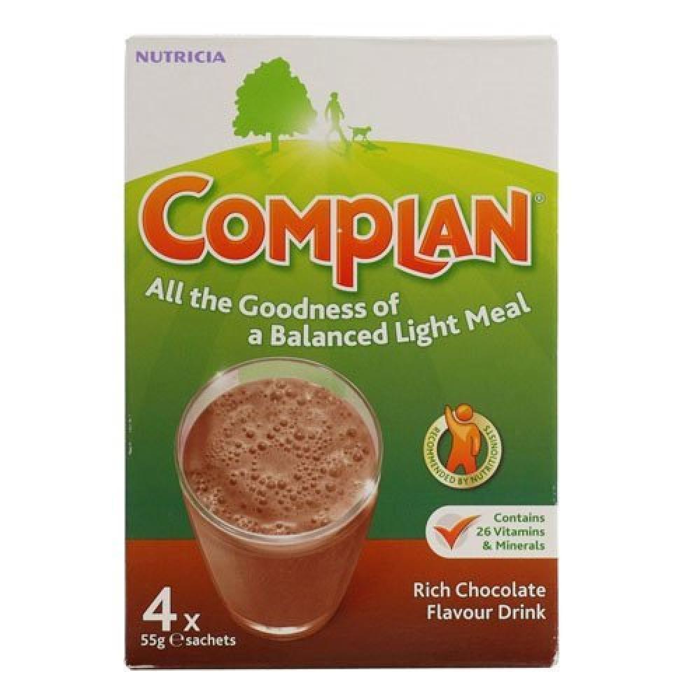 Complan Rich Chocolate Flavour Drink 4 x 55 g sachest