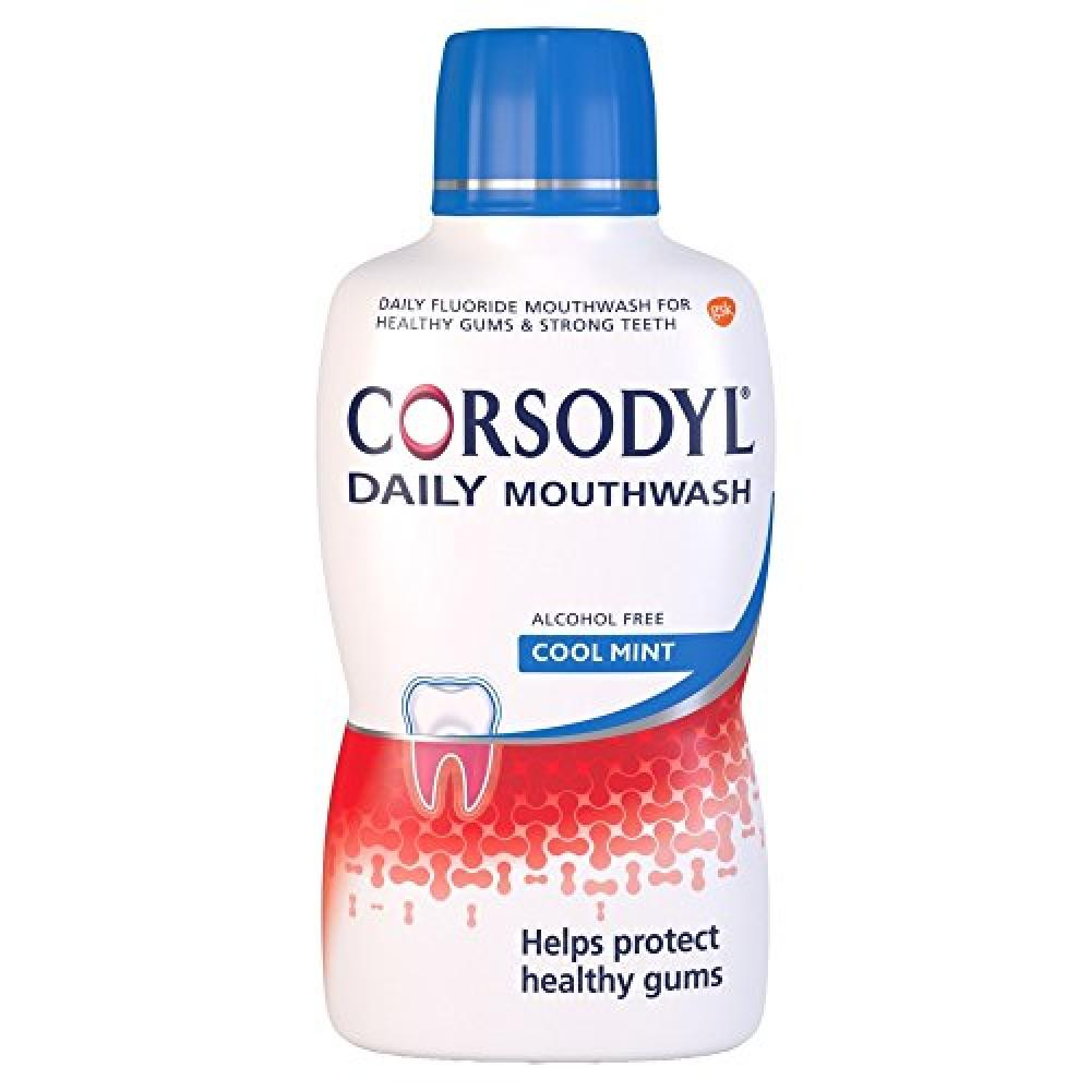 Corsodyl Daily Mouthwash - Cool Mint 500ml
