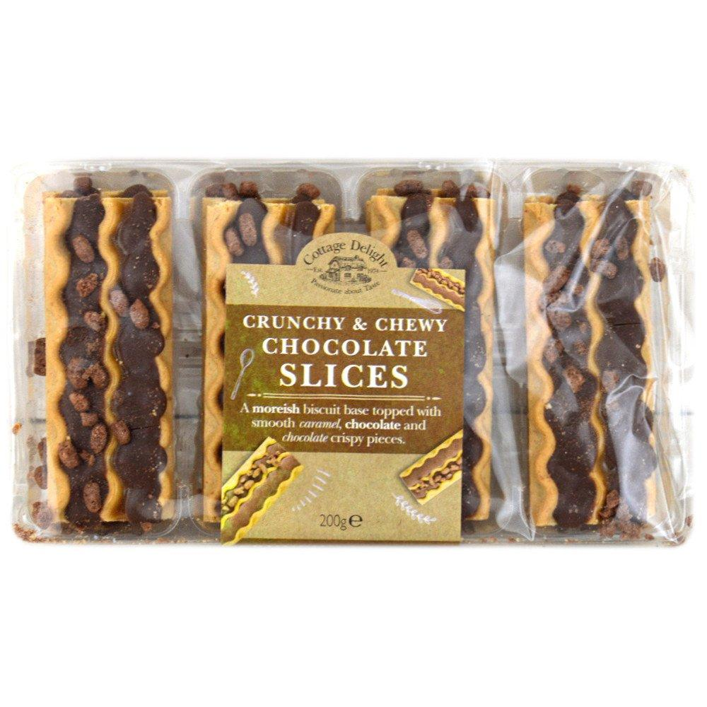 Cottage Delight Crunchy and Chewy Chocolate Slices 200g