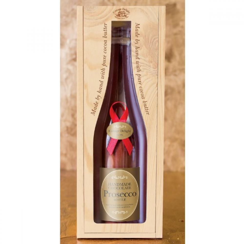 Cottage Delight Milk Chocolate Prosecco Bottle 250g