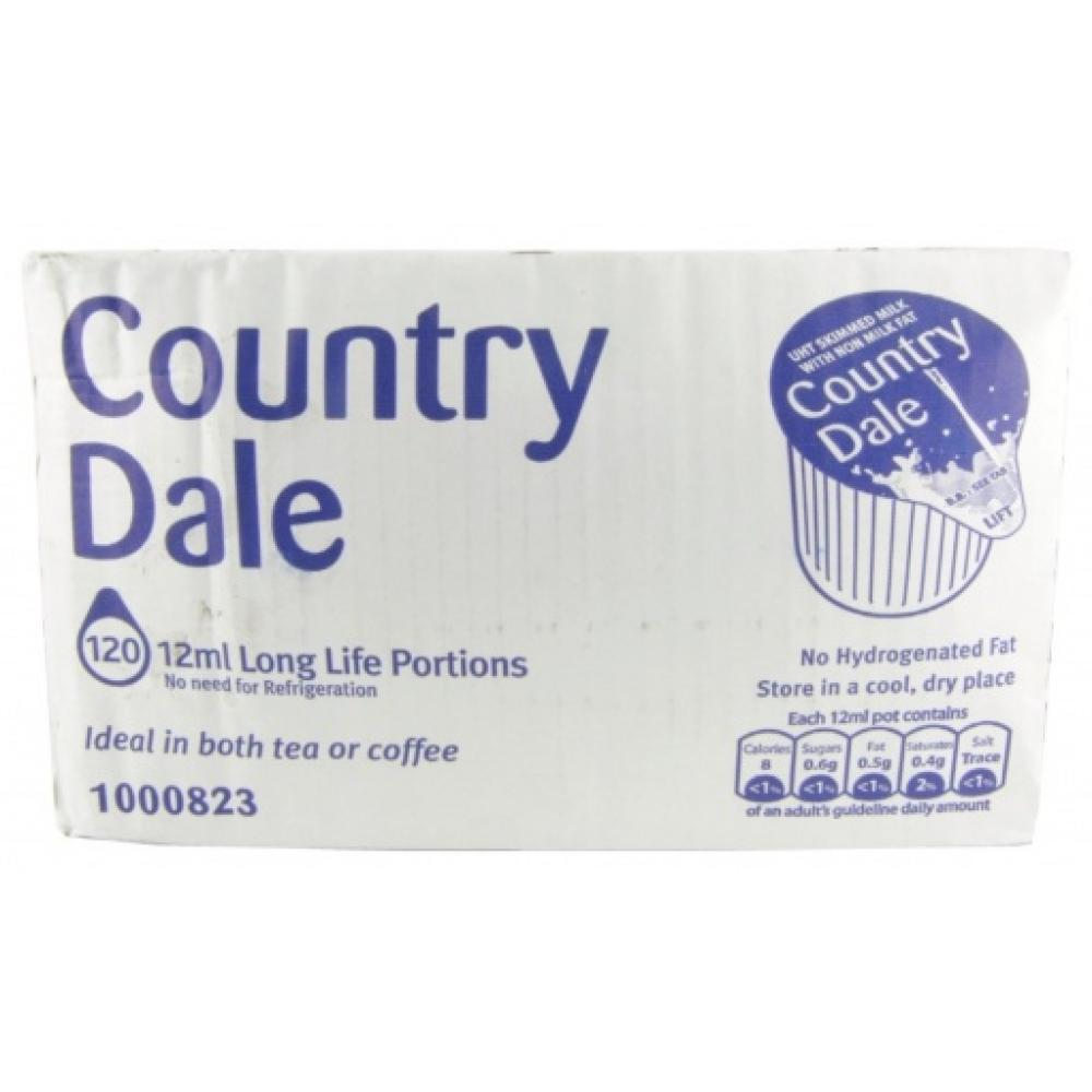 Country Dale Long Life Portions UHT 12ml Pack of 120