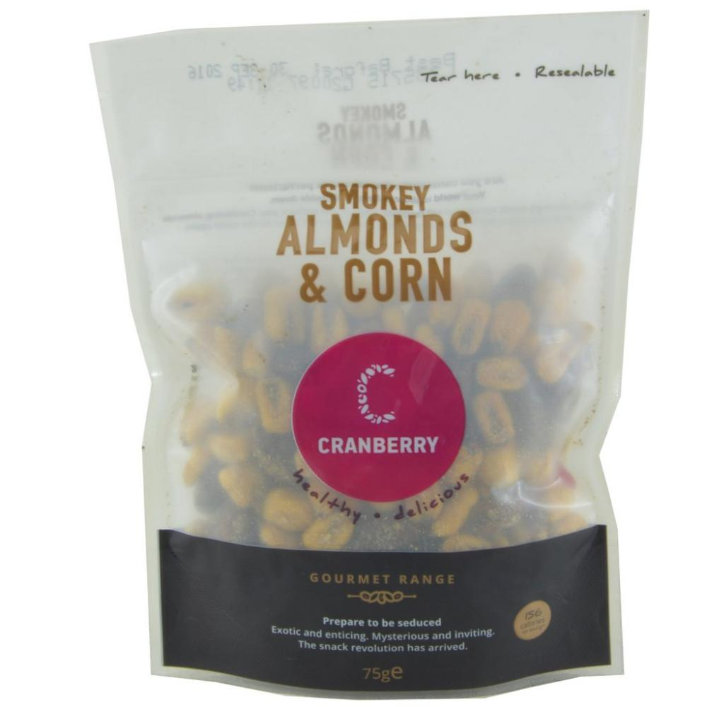 Cranberry Smokey Almonds And Corn 75g