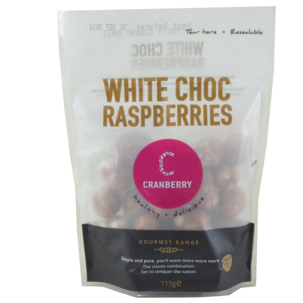 Cranberry White Choc Raspberries 115g