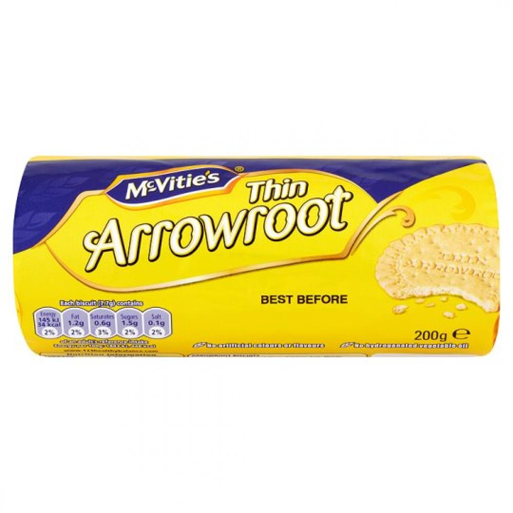 Crawfords Thin Arrowroot Biscuits 200g