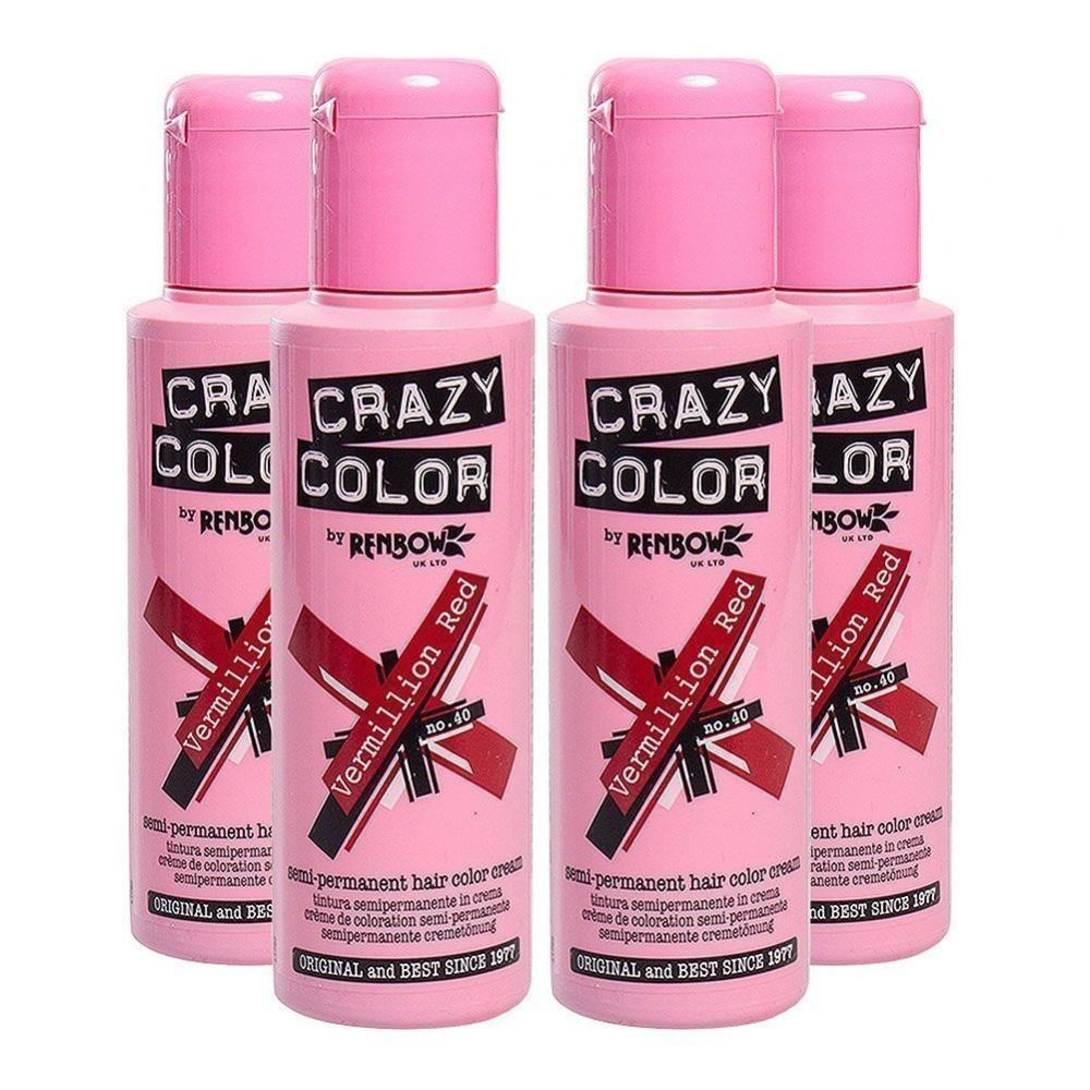 Crazy Color Semi Permanent Hair Colour Starter Palette 100ml x 4