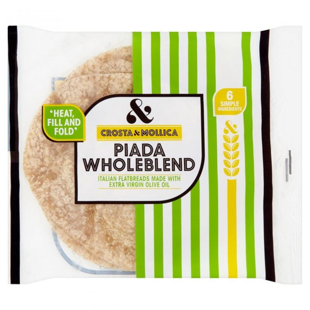 Crosta and Mollica Piada Flatbreads Wholeblend 265g
