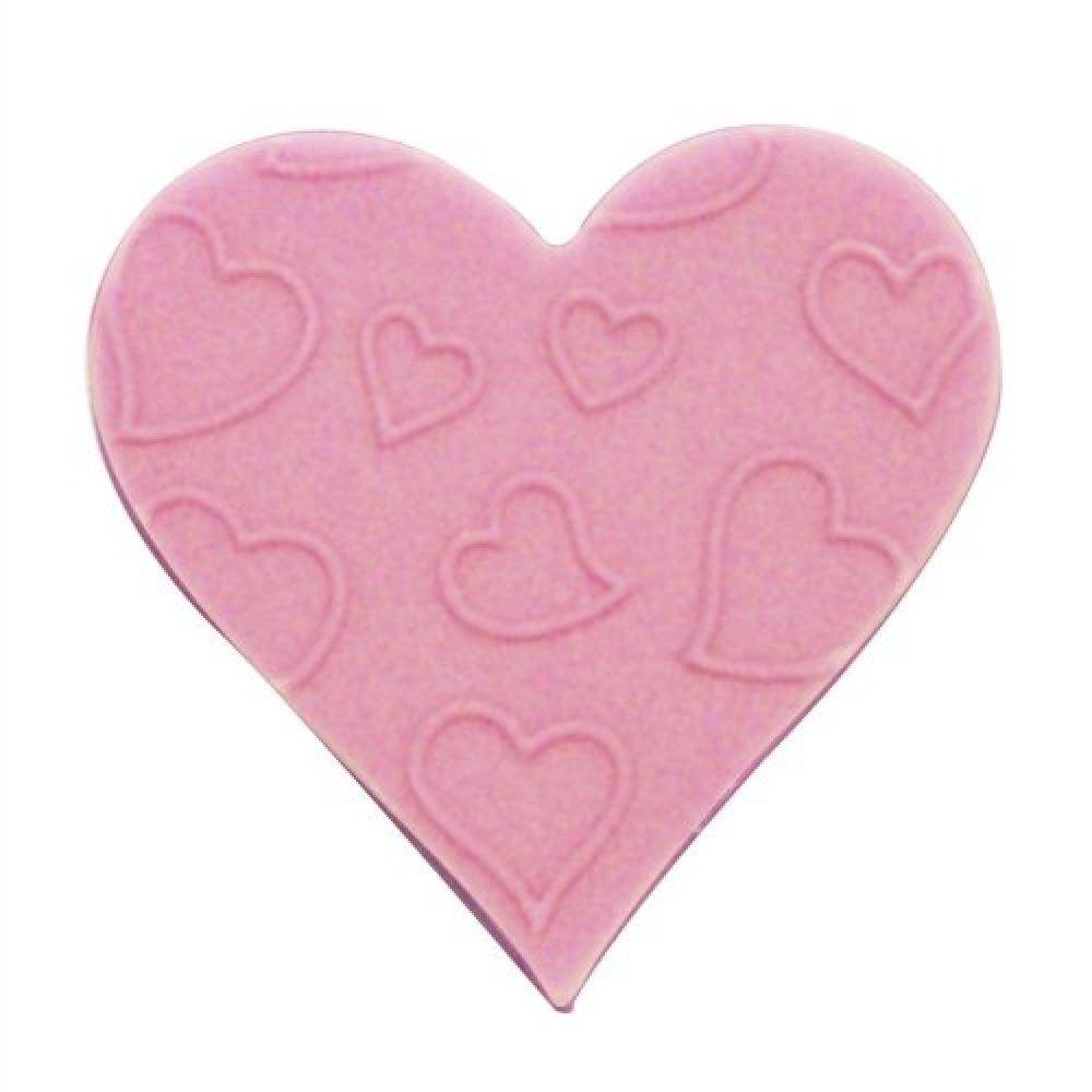 Culpitt Pink Embossed Sugar Heart Total 420