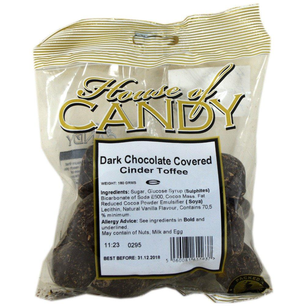 House Of Candy Dark Chocolate Covered Cinder Toffee 180g