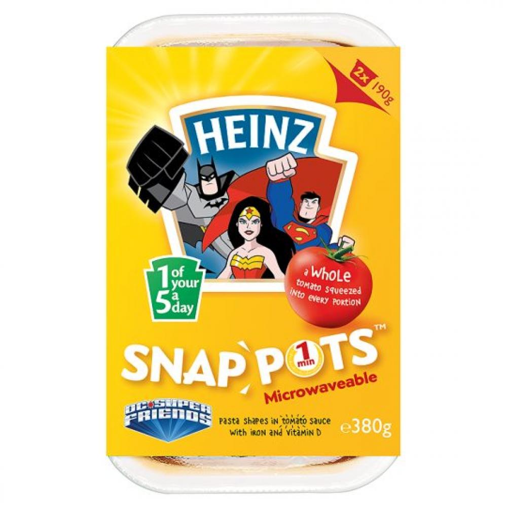Heinz DC Super Friends Microwaveable Snap Pots 2 Pack 380g