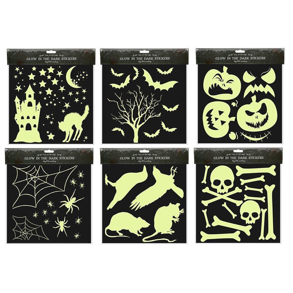 Deluxe Halloween Glow In The Dark Stickers