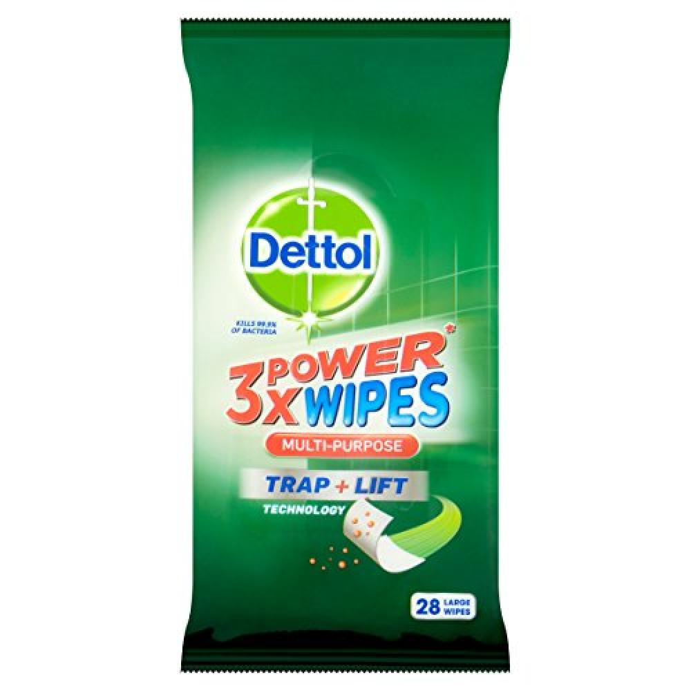 Dettol 3x Power Multi Purpose Wipes Pack of 28