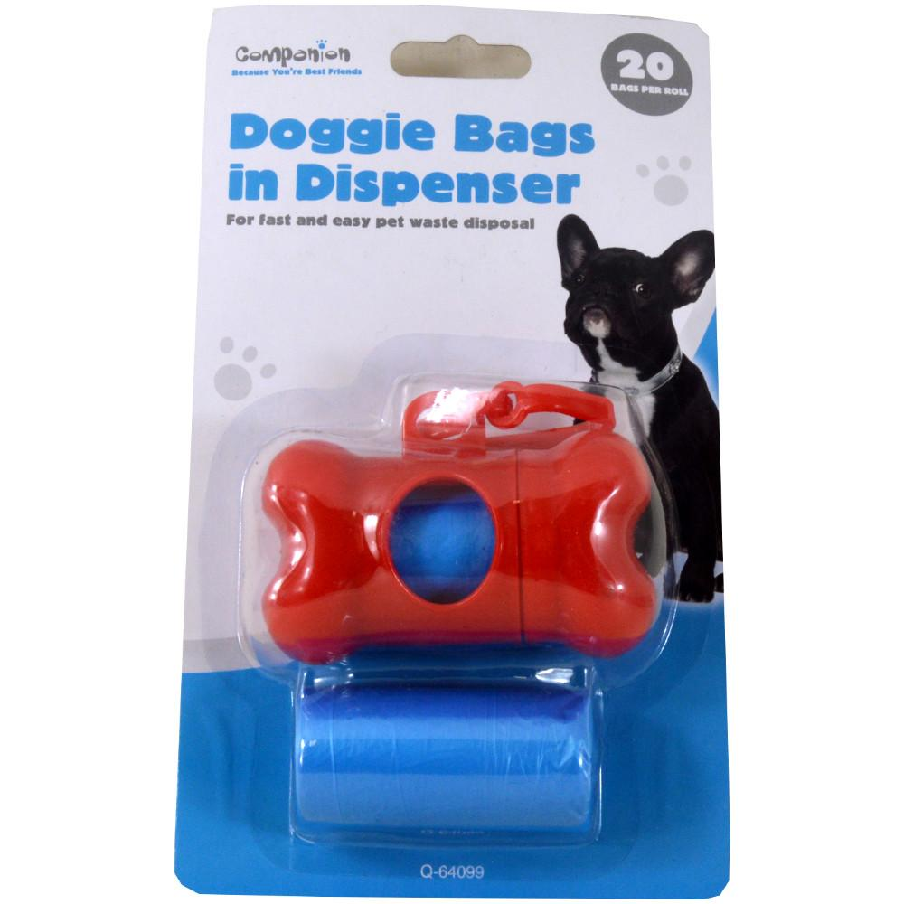 Companion Doggie Bags in Dispenser - 20 bags per roll - 2 rolls