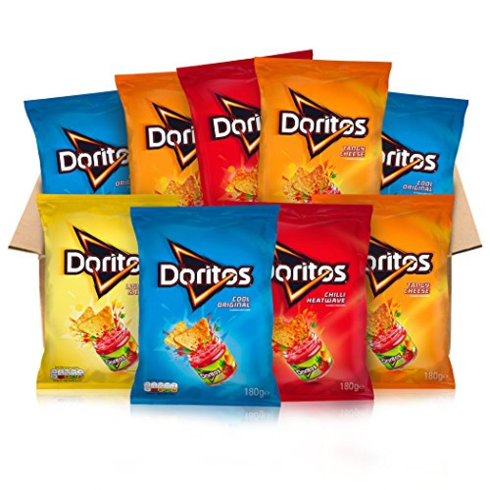 Doritos Flavoured Tortilla Chips 9 Variety Packs 9x180g