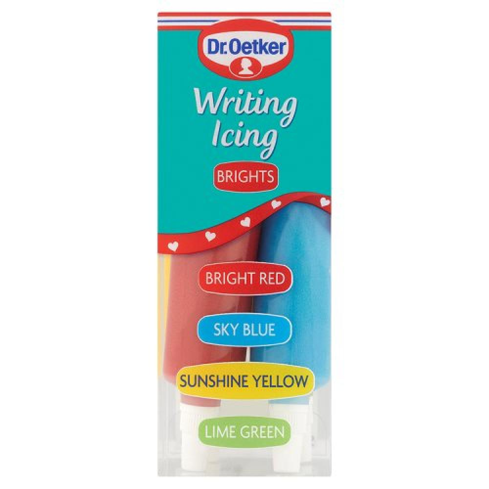 Dr Oetker Writing Icing Brights 4 pack