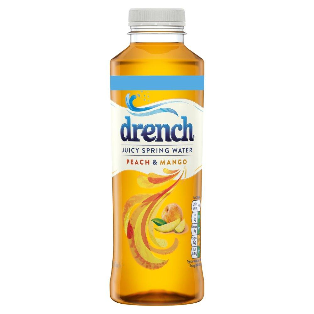 Drench Juicy Spring Water Peach and Mango 500ml