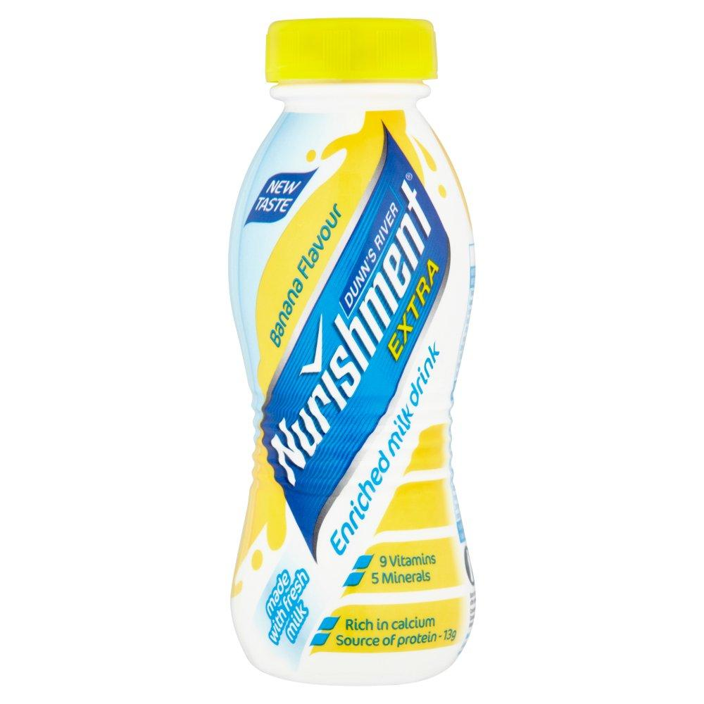 Dunns River Nurishment Extra Banana Flavour Milk Drink 310ml