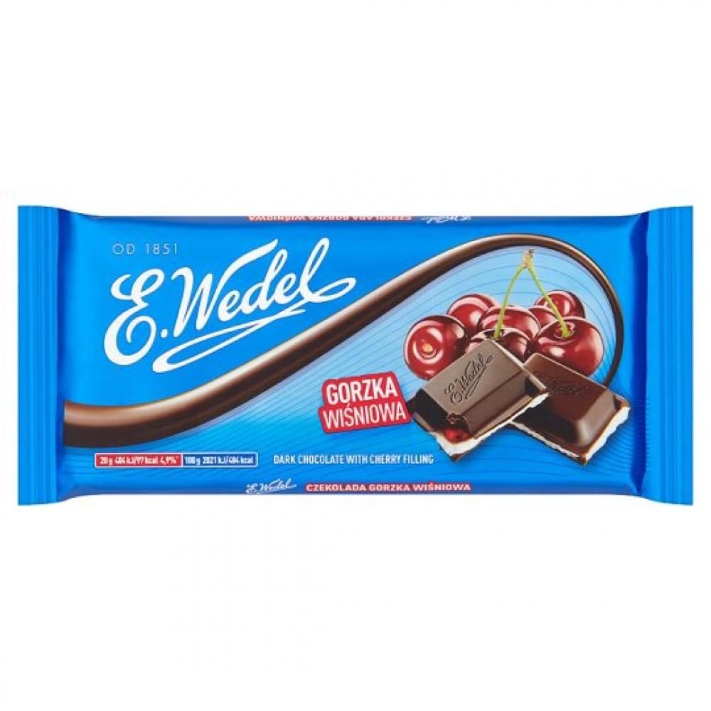 E Wedel Dark Chocolate With Cherry Filling 100g