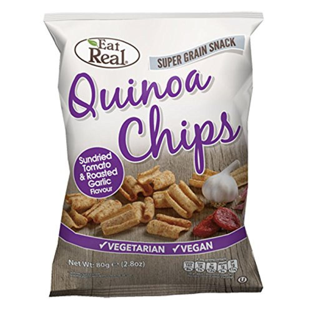 Eat Real Quinoa Chips - Sundried Tomato and Roasted Garlic Flavour 80g