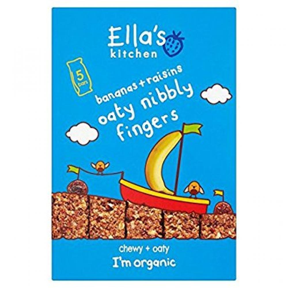 Ellas Kitchen Bananas and Raisins Oaty Nibbly Fingers 5 x 25g ...