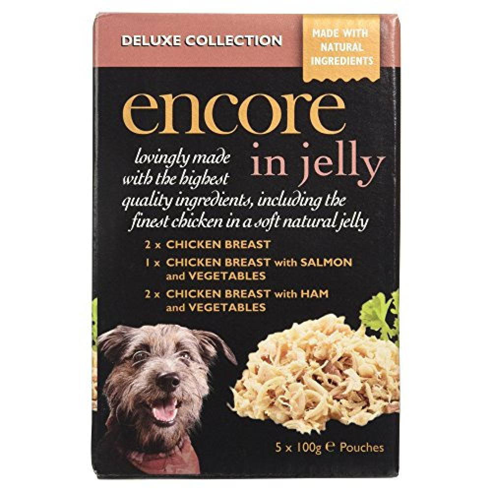 Encore Deluxe Collection Dog Food in Jelly 5x 100g