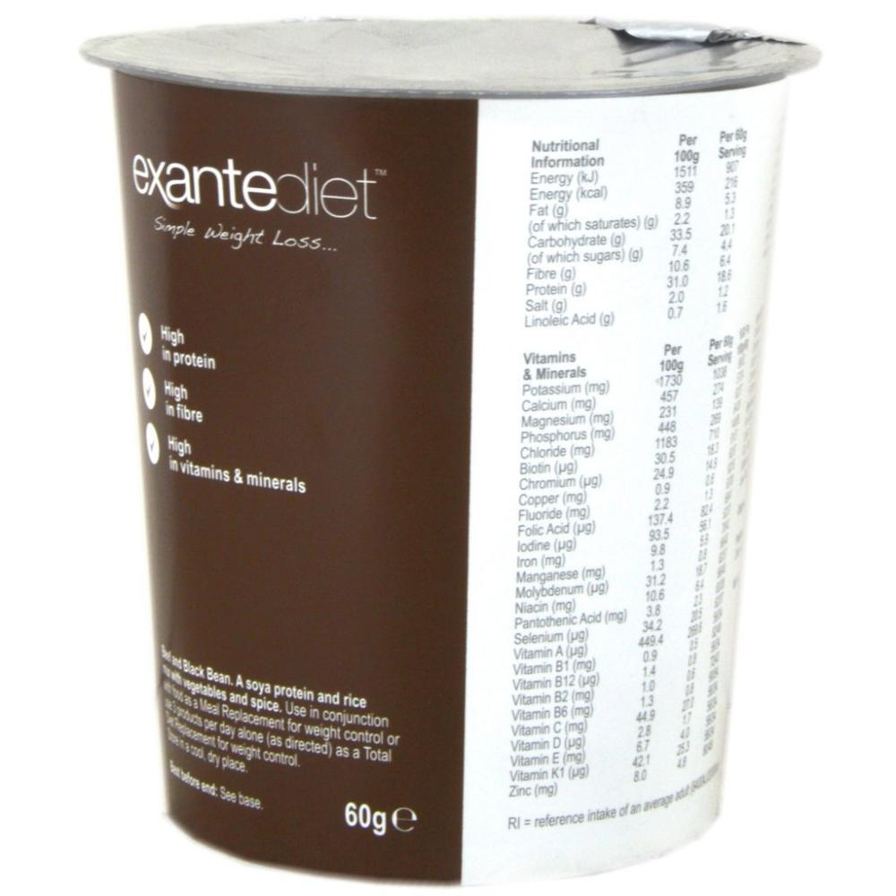 FURTHER REDUCTION  Exante Diet Beef and Black Bean Pot 60g