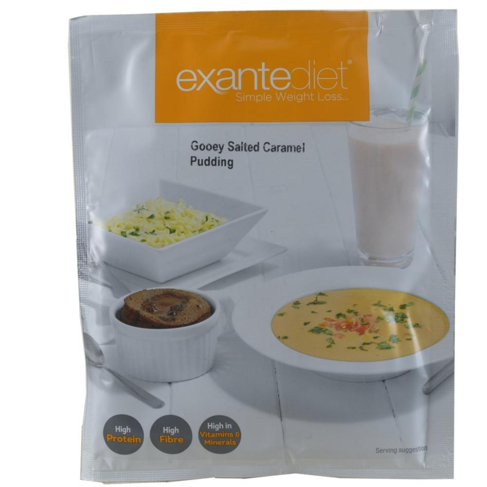 Exante Diet Gooey Salted Caramel Pudding 55g