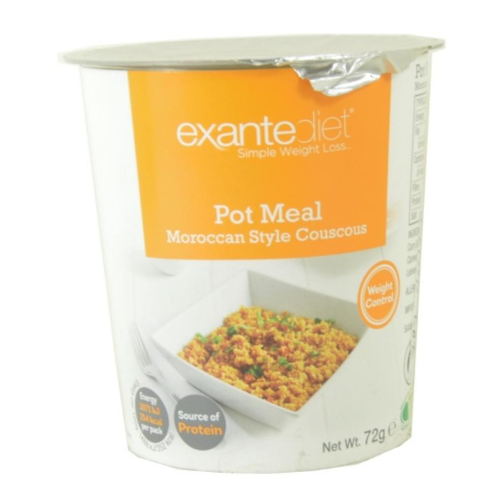 Exante Diet Pot Meal Moroccan Style Couscous 72g