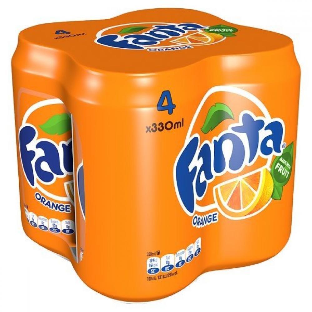 Fanta Orange 330ml x 4