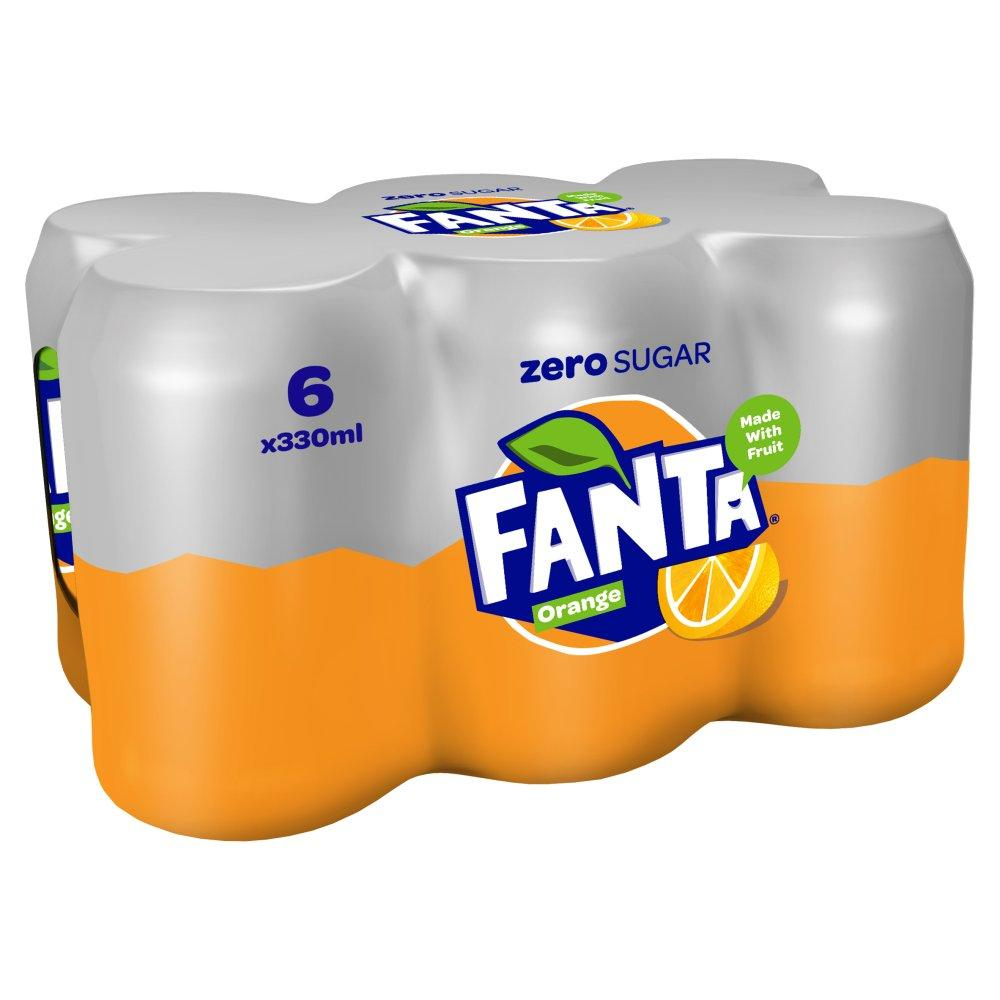 Fanta Orange Zero 330ml x 6