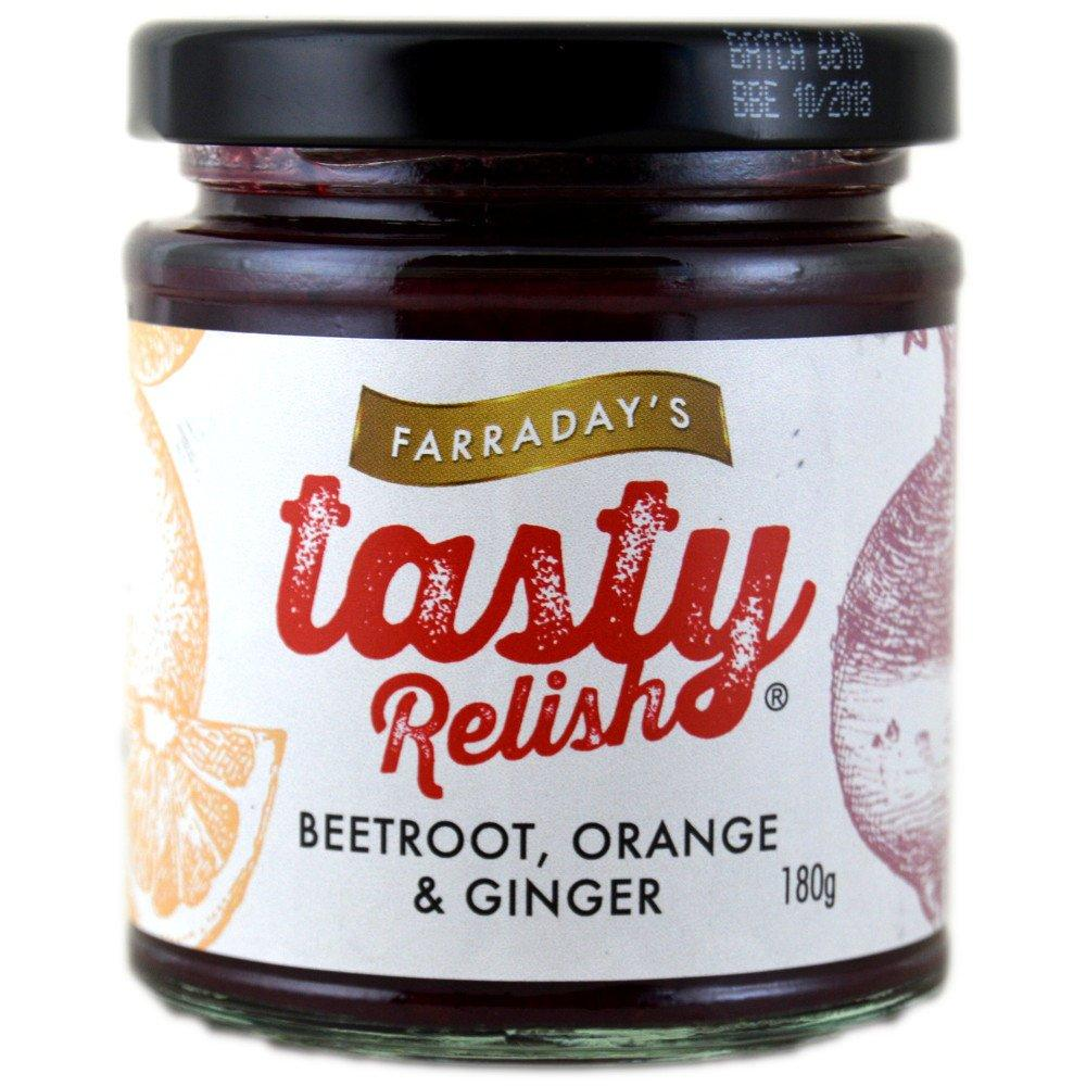 Farradays Tasty Beetroot Orange and Ginger Relish 180g
