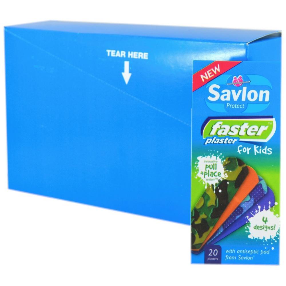 Savlon Faster Plaster Boys 6 pack box