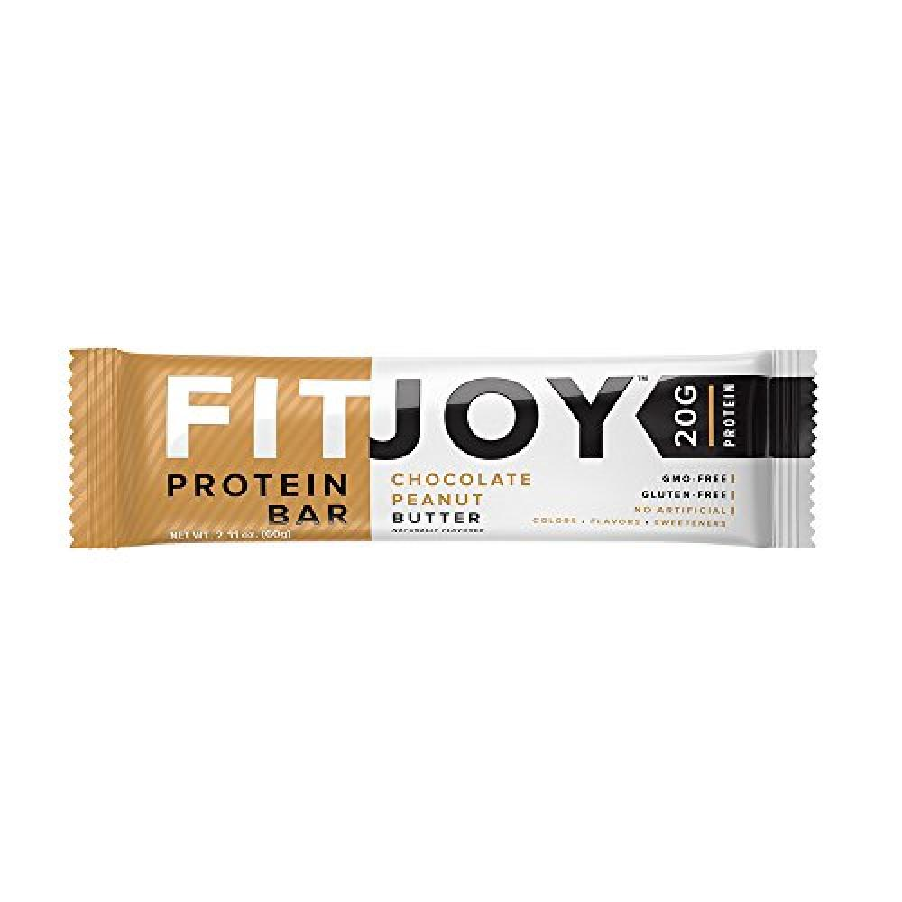FitJoy Nutrition Chocolate Peanut Butter Protein Bar 60g