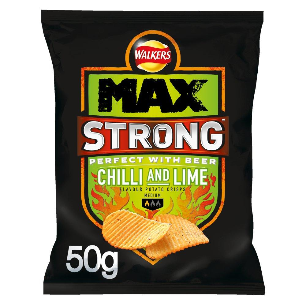 Walkers Max Strong Chilli and Lime Flavour 50g