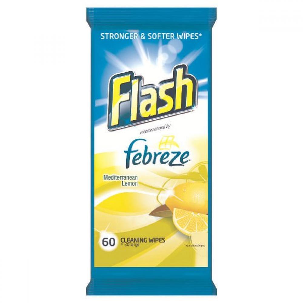 Flash Mediterranean Lemon Cleaning Wipes 60 wipes