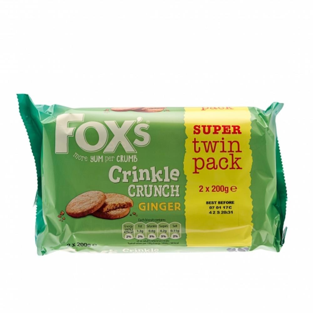 Foxs Ginger Crinkles 400g