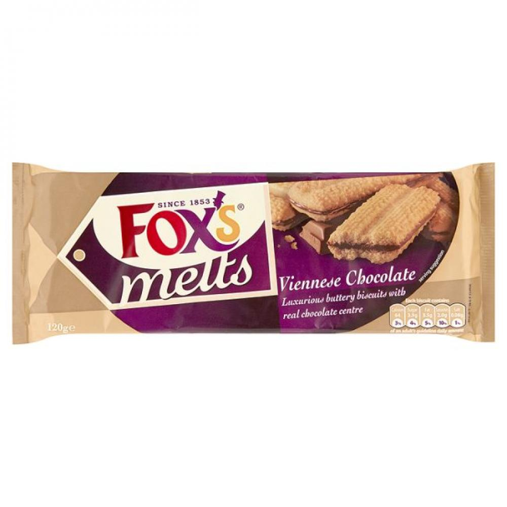 Foxs Melts Viennese Chocolate Biscuits 120g
