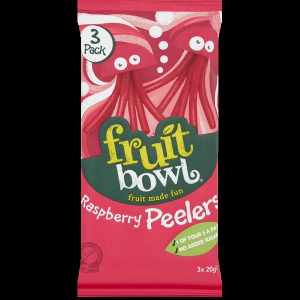 Fruit Bowl Raspberry Fruit Peelers 20g x 3