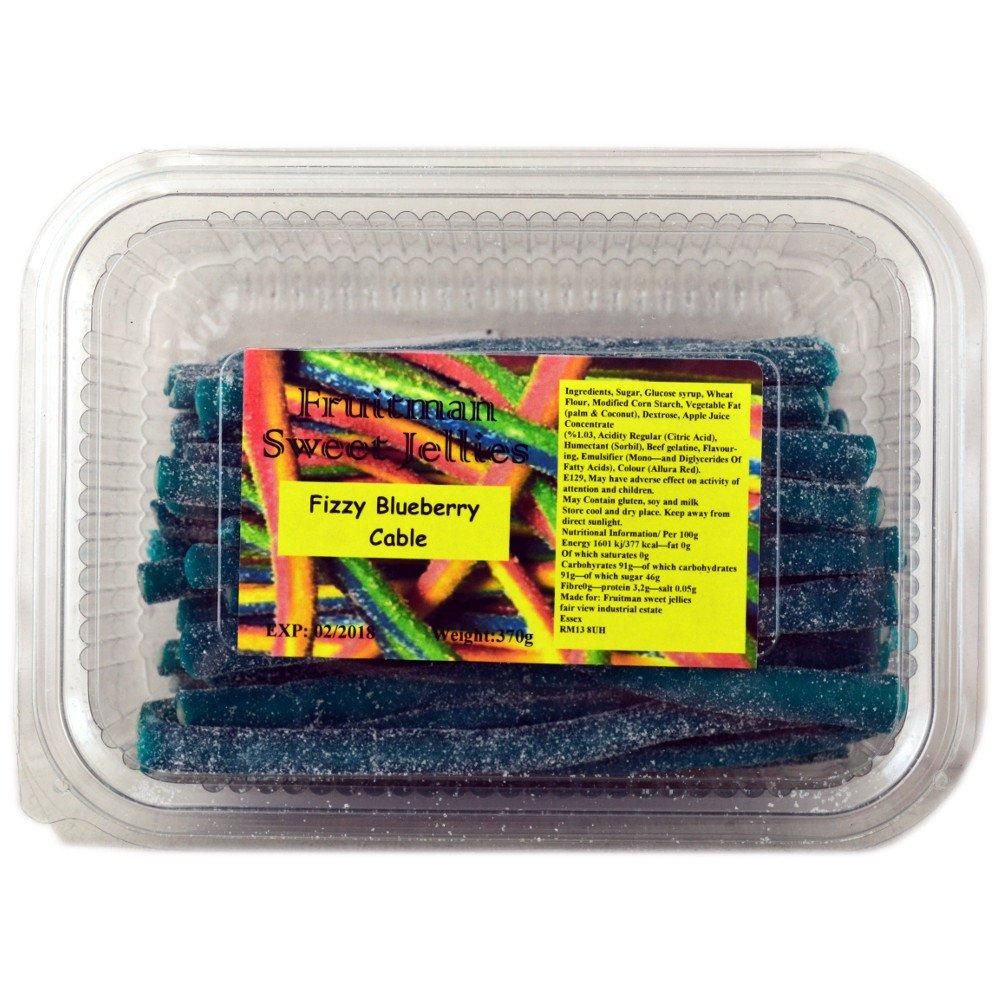 Fruitman Sweet Jellies Fizzy Blueberry Cable 370g