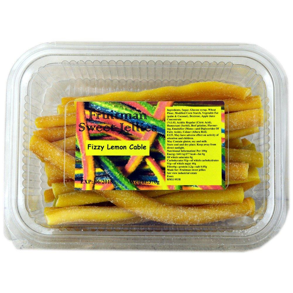 Fruitman Sweet Jellies Fizzy Lemon Cable 370g