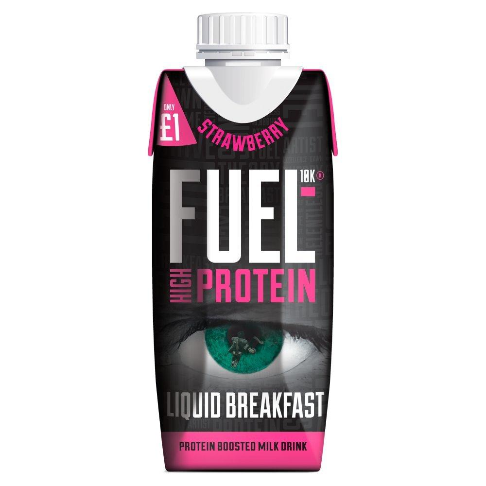 Fuel 10K High Protein Liquid Breakfast Strawberry Flavour 330ml