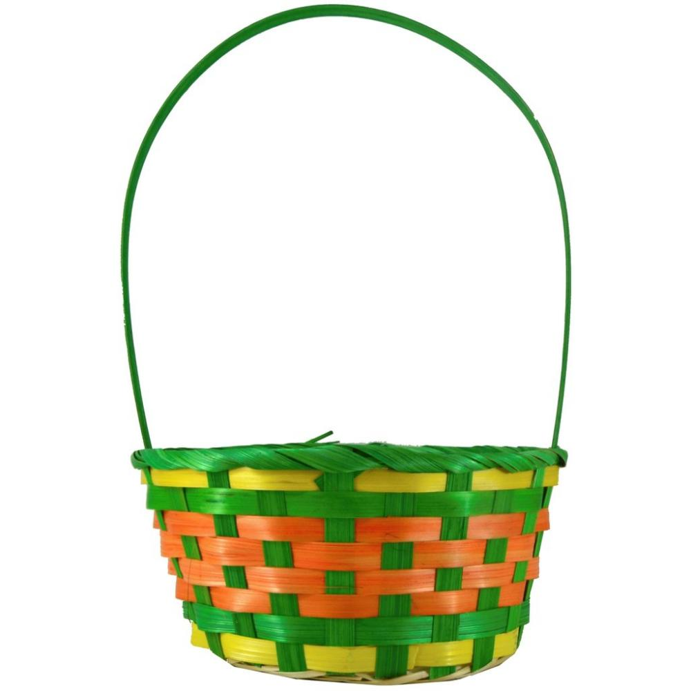 Fun Machine Coloured Basket - Green, Yellow, Orange Medium