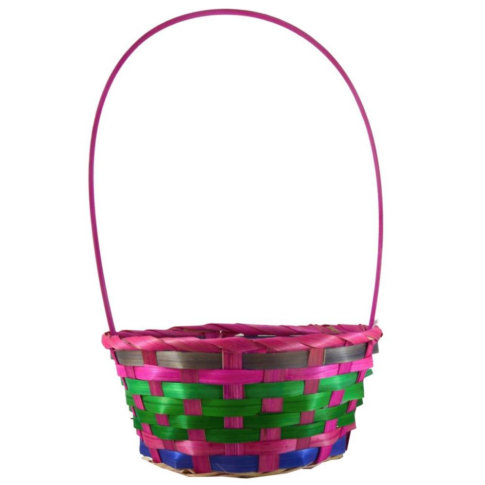 Fun Machine Coloured Basket - Pink Purple Green Medium