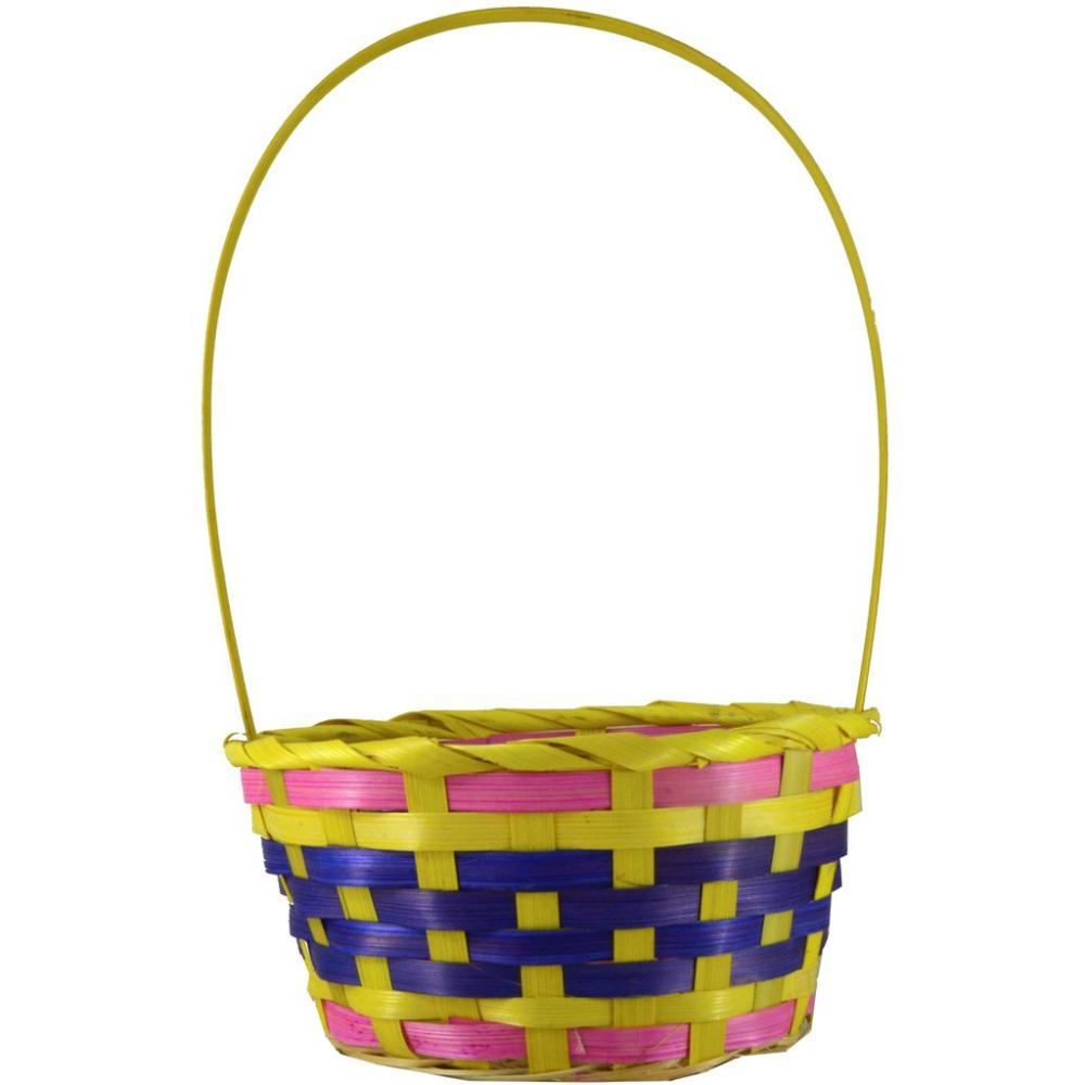 Fun Machine Coloured Basket - Yellow Pink Purple Medium