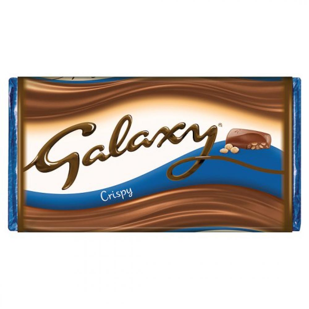 Galaxy Crispy Chocolate Bar 102g