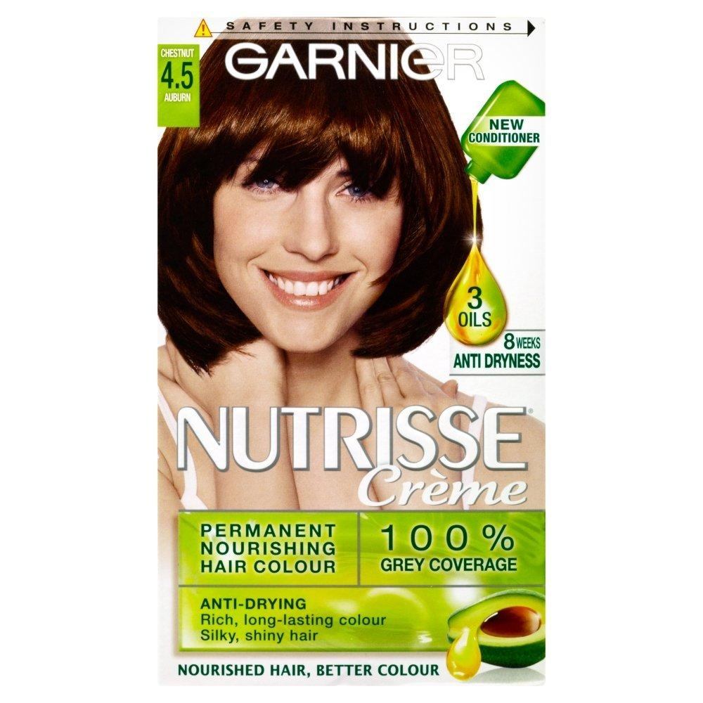 Garnier Nutrisse Creme Permanent Hair Colour 4.5 Auburn