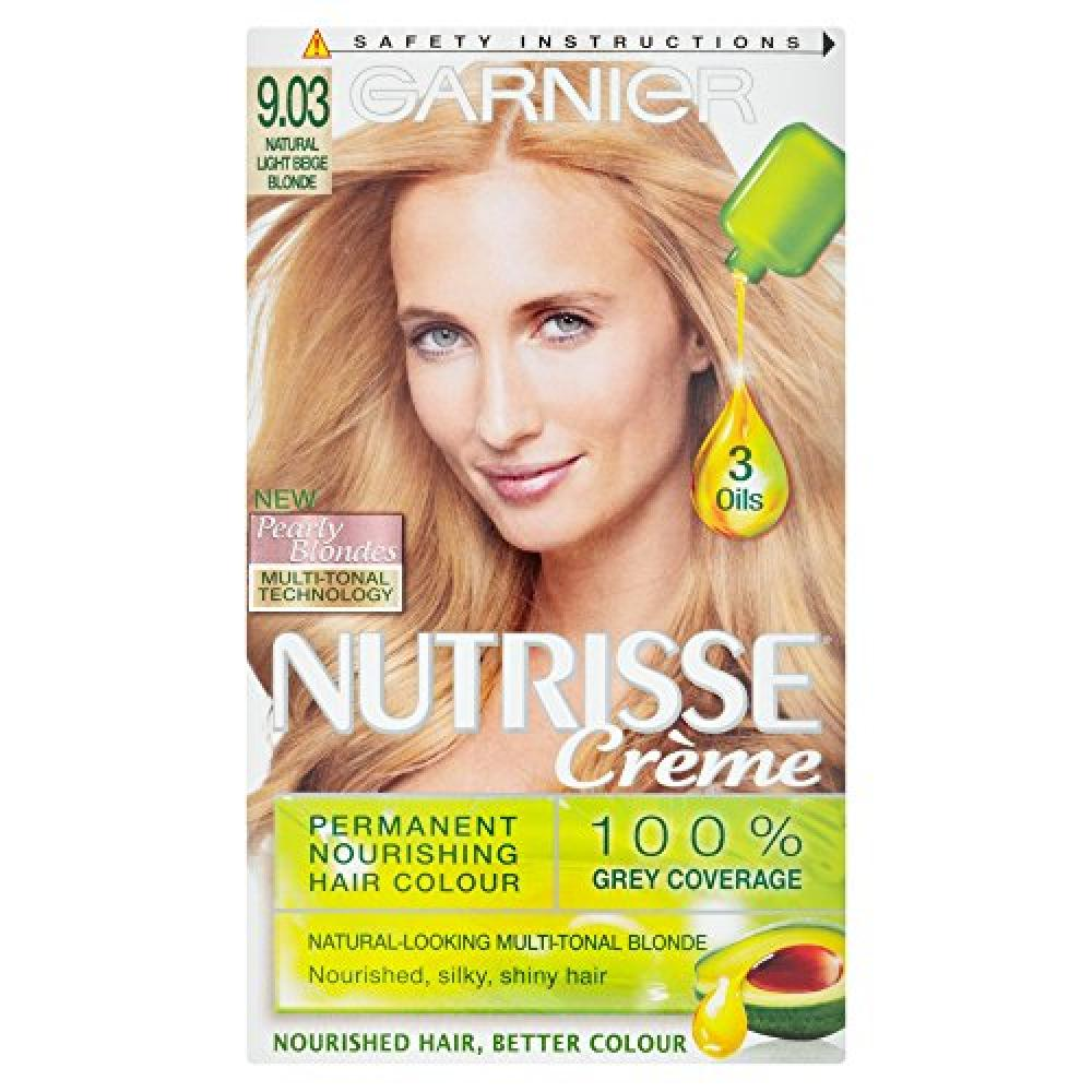 Garnier Nutrisse Creme Permanent Hair Colour 903 Natural Light Beige